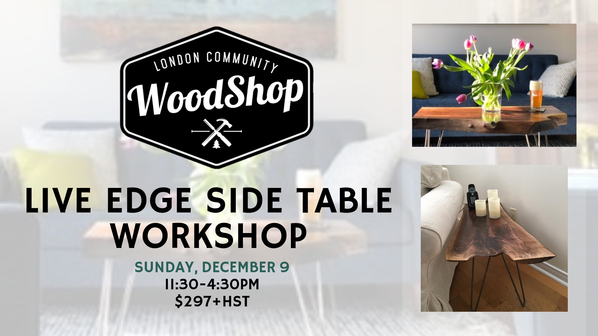 Live Edge Side Table December 9th, 2018 Image (Added Date)