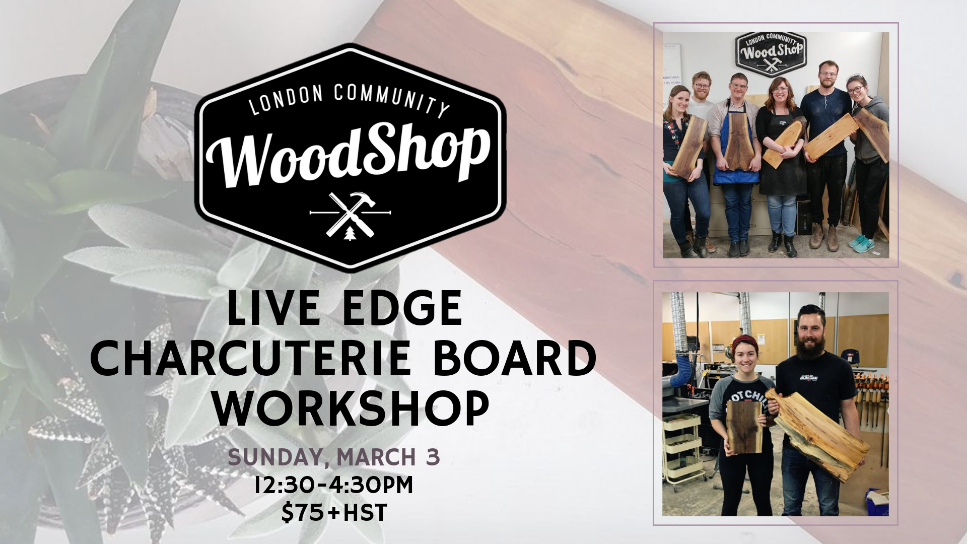 March 3 Workshop - Charcuterie Board