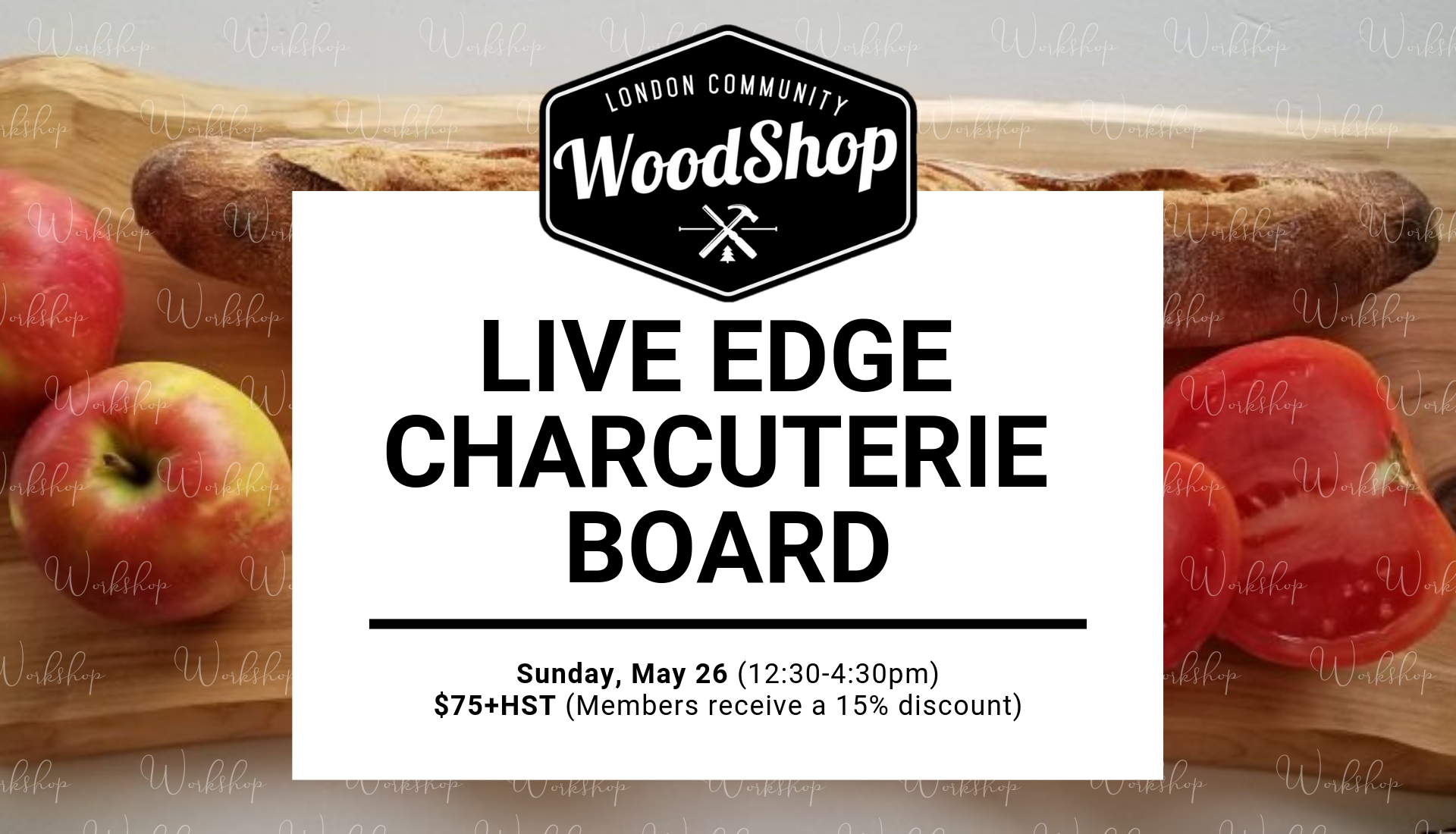 Charcuterie Board Workshop - May 26 2019