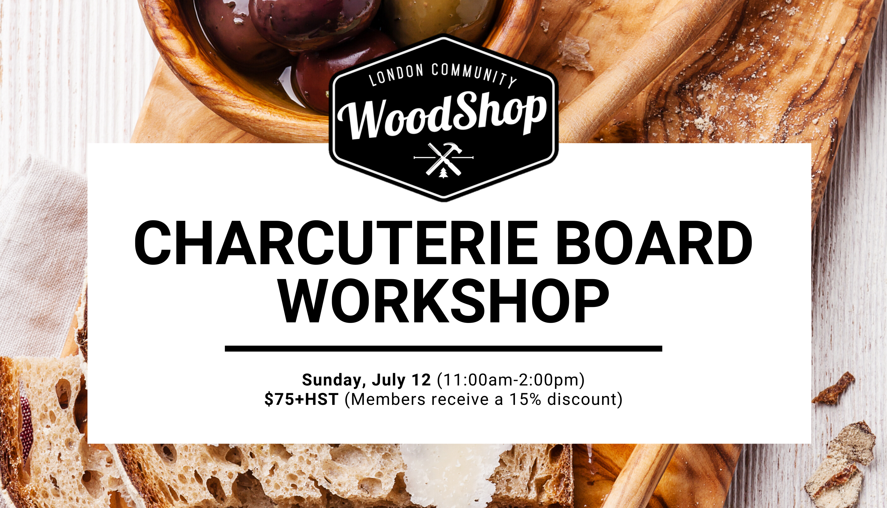 Live Edge Charcuterie Board - July 12