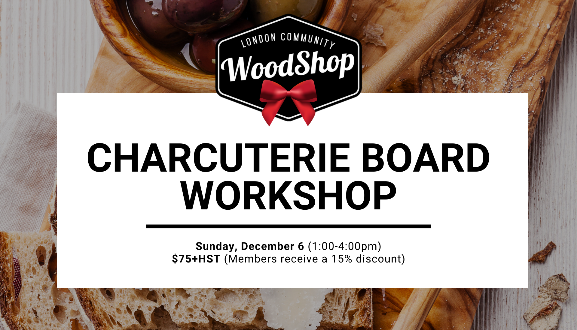 Charcuterie Board Workshop - December 6