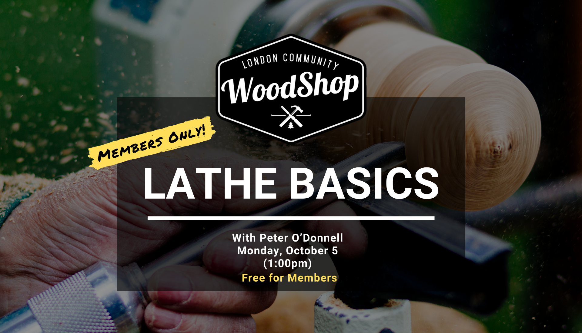 Lathe Basics - Monday, October 5