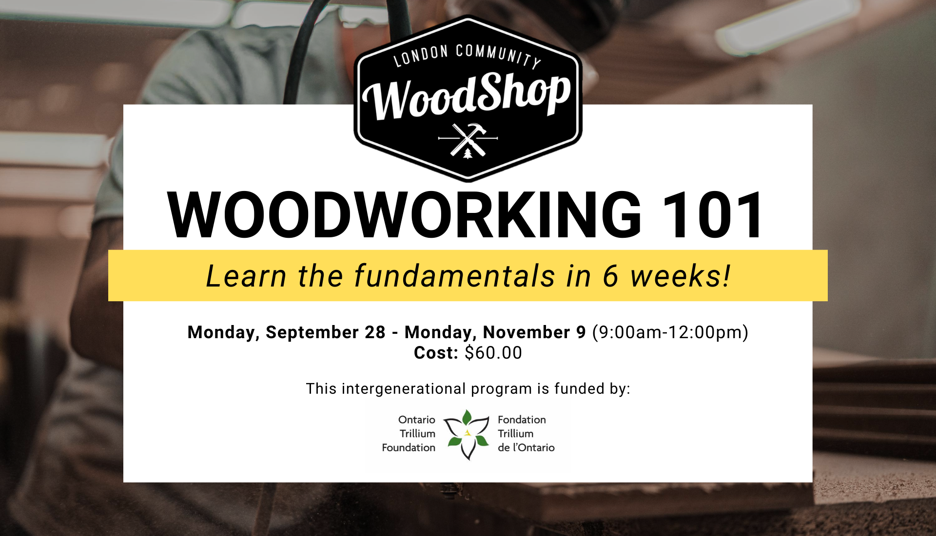 Woodworking 101 - Fall 2020